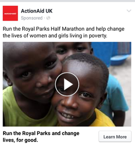 ActionAid Facebook ad
