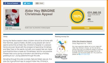 Alder Hay Christmas appeal