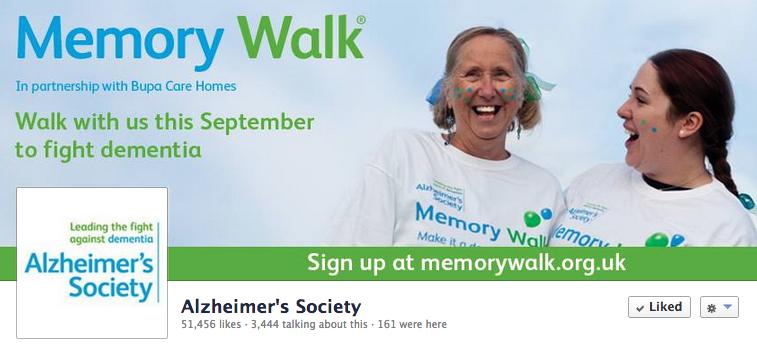 Alzheimer's Society Facebook cover photo
