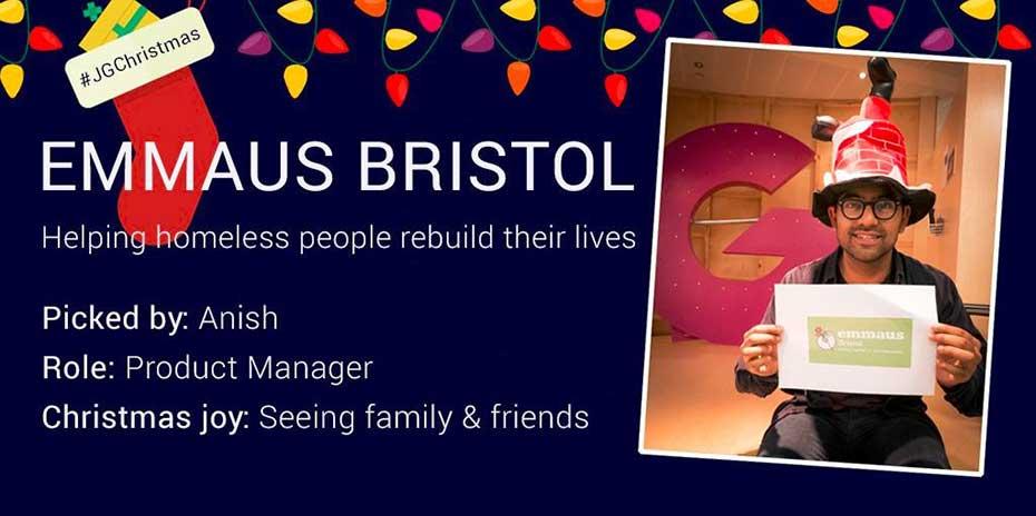 Social post for Emmaus Bristol