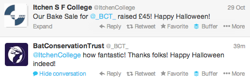 A thank you tweet is a great way of making your supporters feel valued