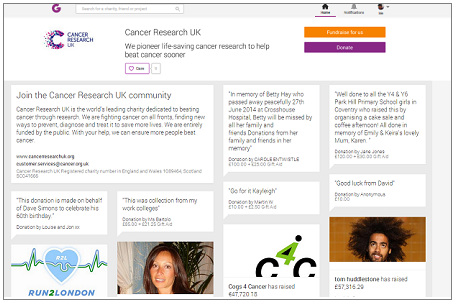 Cancer Research UK CARE button