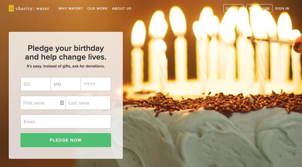 Charity:Water - Birthday Pledge