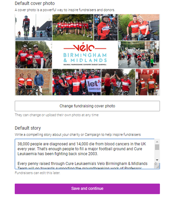 Charity Branding On Fundraising Pages