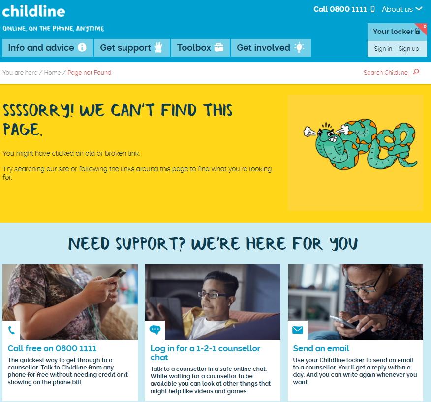 Childline 404