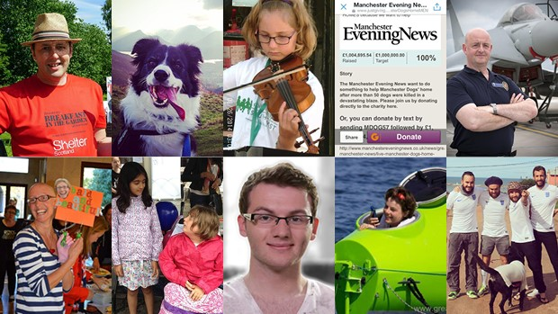 Collage Of Stand Out Fundraising Pages 2014