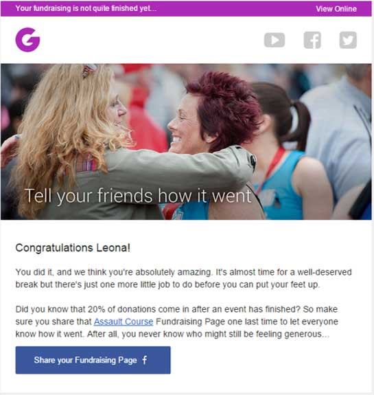 Congratulations email