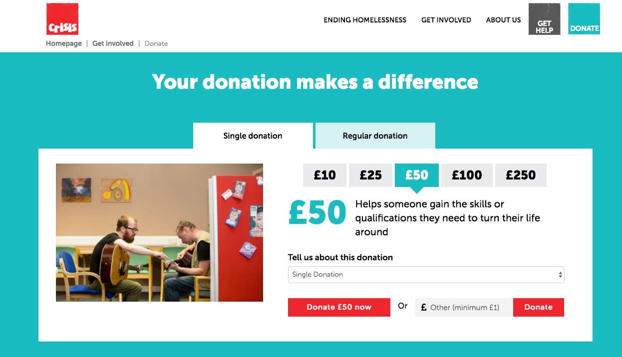 crisis-donation-page
