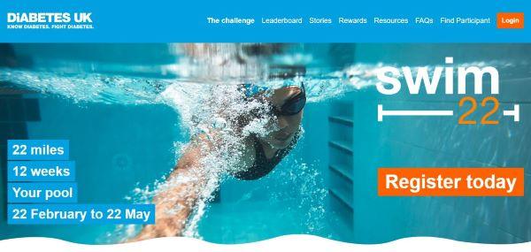 Diabetes UK Swim 22 Header Image