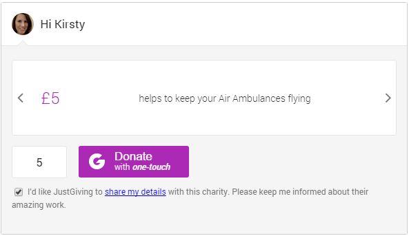 Donate Box example