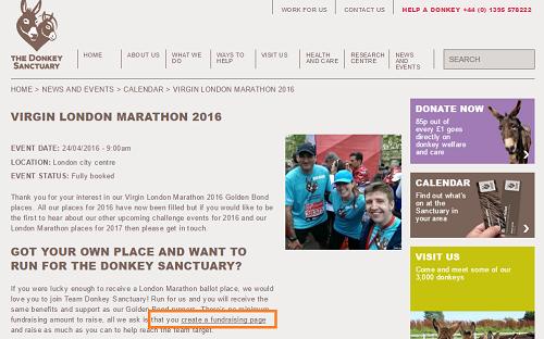 Donkey Sanctuary London marathon campaign promotion
