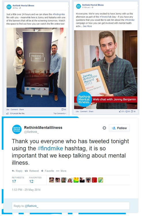 FindMike campaign by Rethink Mental Illness