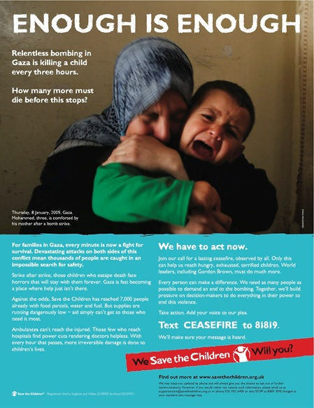 Save the Children Gaza appeal
