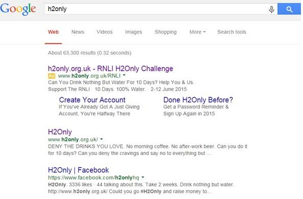 H2Only Google Adwords