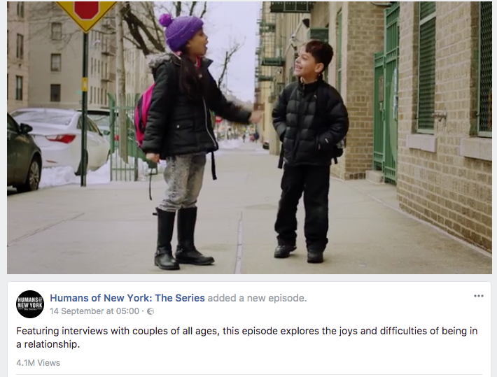 A video form the Humans of New York Video Series