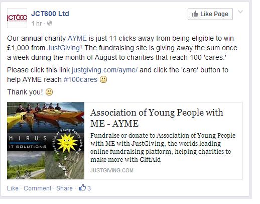 JCT600 Ltd promoting AYME