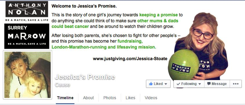 Jessica's Promise Facebook Page