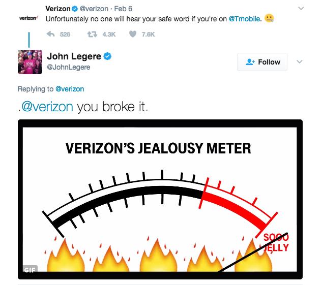 John Legere trolls Verizon