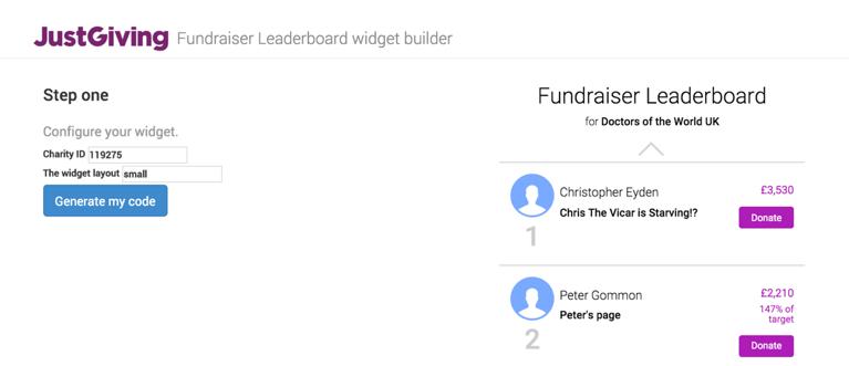 leader board widget