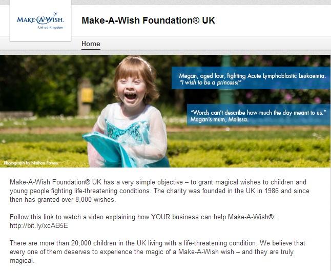 Make a Wish Linkedin Page