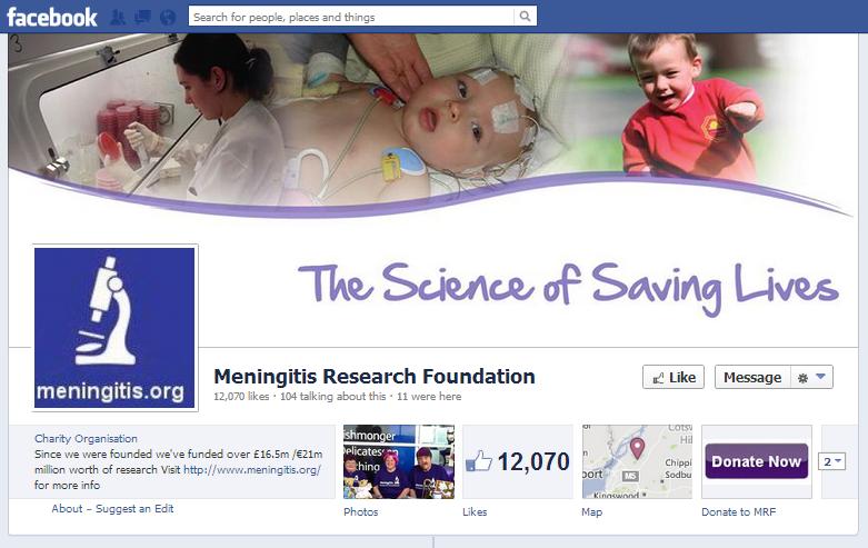 Meningitis Research Facebook page