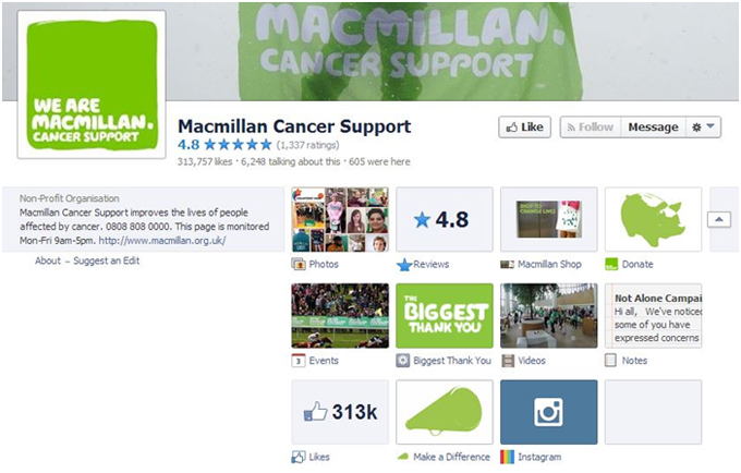 Macmillan's Facebook page has a great 'About us' section