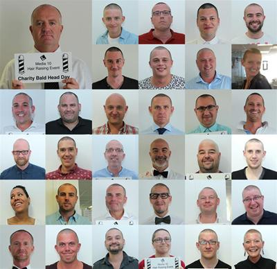 Media 10 Ltd's collage of head-shaves