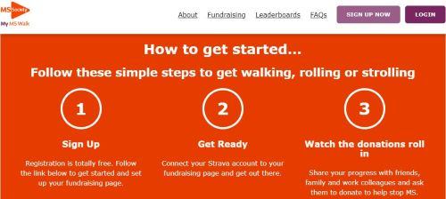 MS Society walking challenge