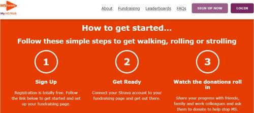 MS Society walking challenge