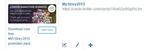 MyStory Twitter card