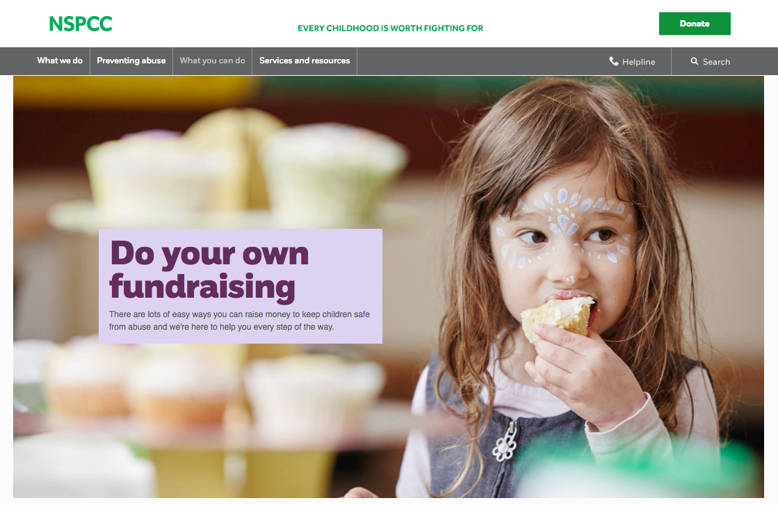 NSPCC Fundraising page