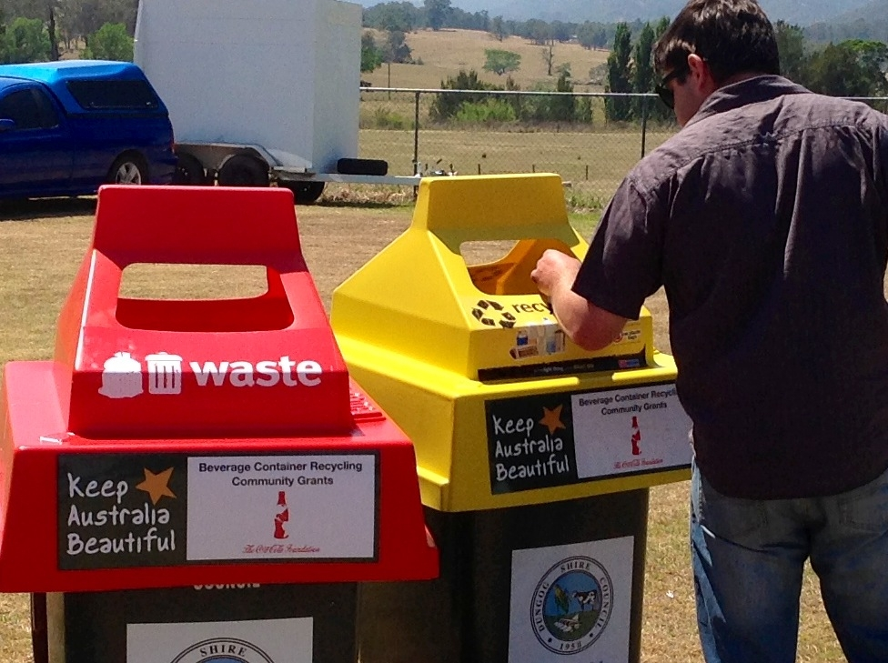 Recycling bins for Dungog Shire Council, Australia