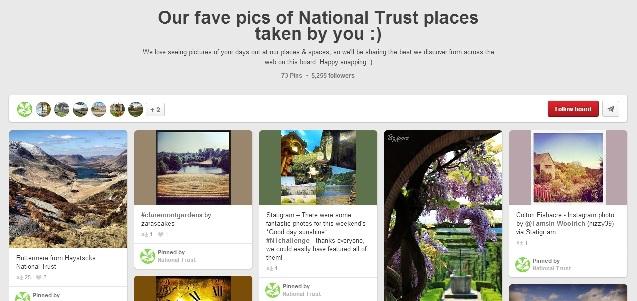 National Trust Pinterest