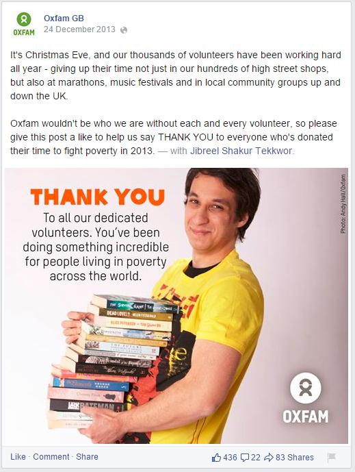 Oxfam christmas post