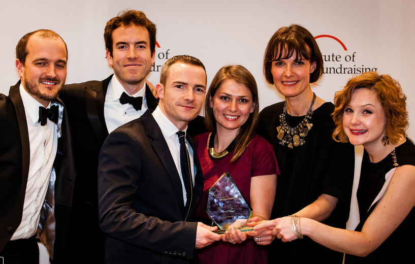A picture of us at the Partners in Fundraising Awards