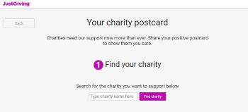 JustGiving Positive Postcards