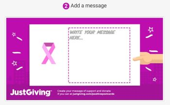 JustGiving Positive Postcard