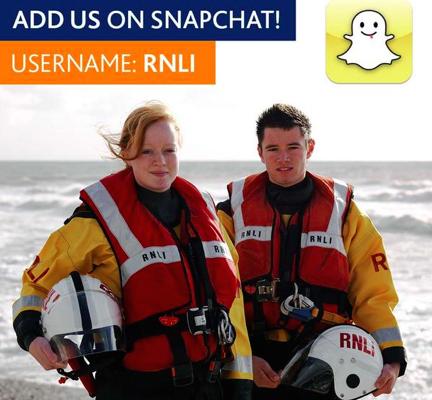 RNLI snapchat screen shot