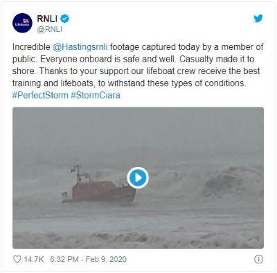 RNLI Twitter hashtag