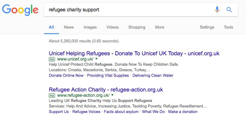 Google ads with bold keywords