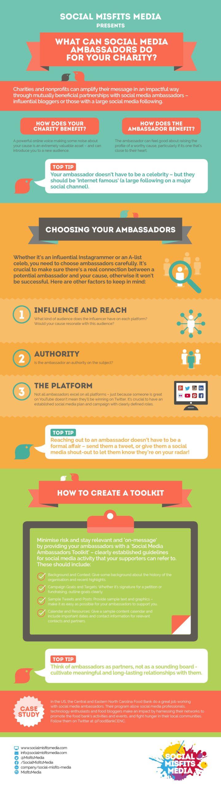 Social media ambassadors infographic