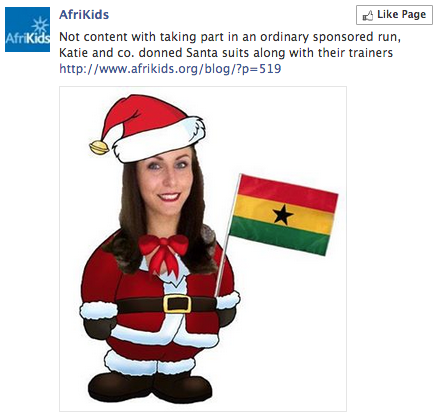 Example of AfriKids Facebook post featuring a fundraiser