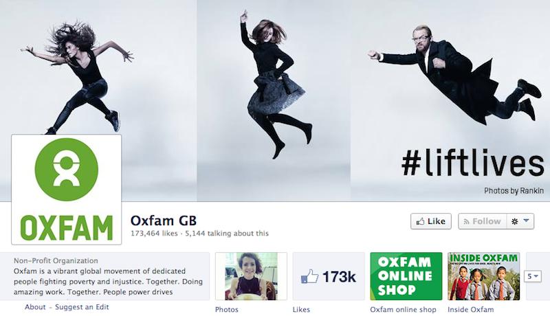 Oxfam's Facebook page