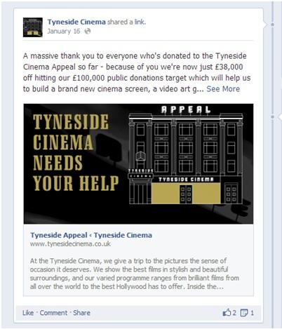 Tyneside Cinema on Facebook