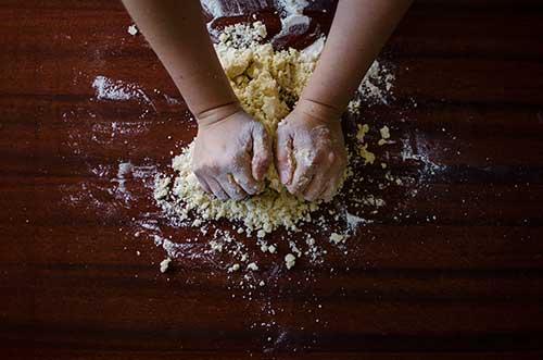 Preparing ingredients for baking