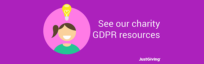 GDPR resources on JustGiving