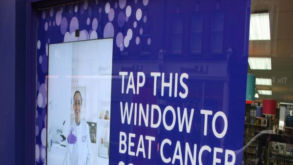 Cancer Research Uk Tap Donate Window