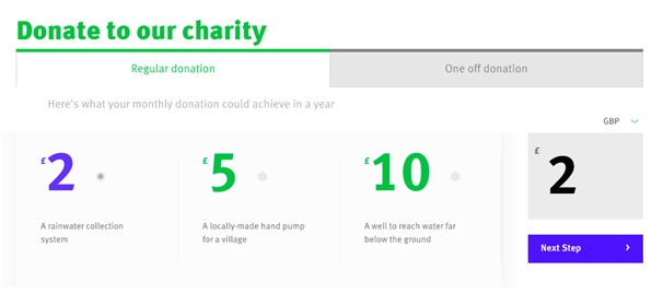 Donation prompts