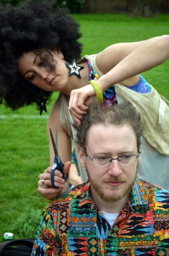 Don Dresser's fundraising head-shave