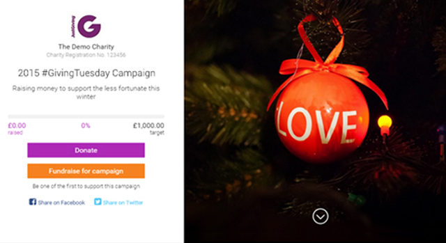 Edit Christmas Campaign Page Example
